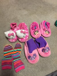 Variety of toddler slippers