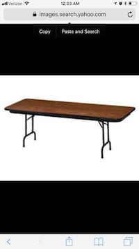 Utility folding tables, party folding tables or meeting tables. Baltimore, 21231