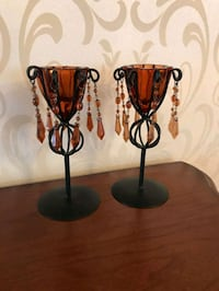 two glass candle holders Burnaby, V5H