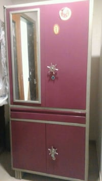 pink and white wooden wardrobe with mirror Mumbai
