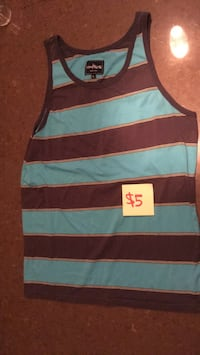 Black, blue, stripe tank top Calgary, T3R 0S5