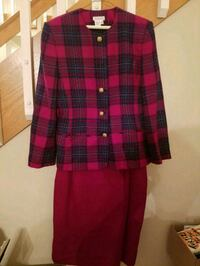 Talbotts pink and purple plaid jacket and skirt sz Lexington, 40507