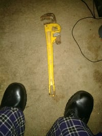 Heavy duty forged jaws pipe wrench 18 inches