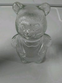 Glass jar teddy bear Baltimore