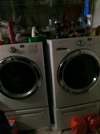 two white front-load clothes washer and dryer set Kansas City, 64129