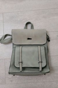 Brand New Gray Leather Backpack Richmond, V6Y 4E3