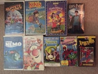 9-VHS tapes w/cases Browns Mills, 08015