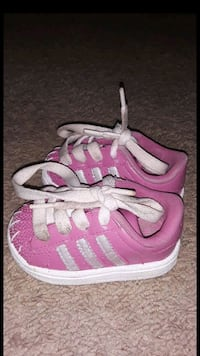 pair of pink-and-white adidas sneakers Greenbelt