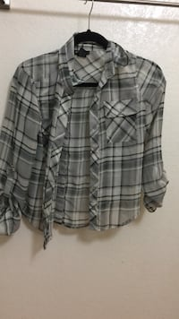 gray, white, and beige button-up chest pocket long-sleeved collared shirt Rowland Heights, 91748