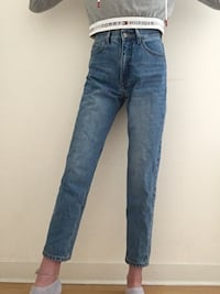 Mom jeans vintage taille haute