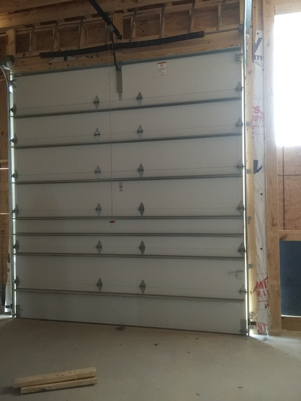 Used 10x12 Garage Door Raised White Panel And Insulated For Sale In