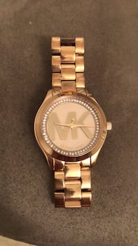 round gold Michael Kors analog watch with link bracelet Greenville, 27834