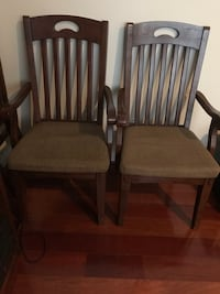 Two brown wooden windsor chairs (each $10.00) Chantilly, 20151