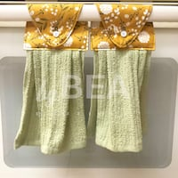 Two (2) dandelions  kitchen towels - olive green Tampa, 33612