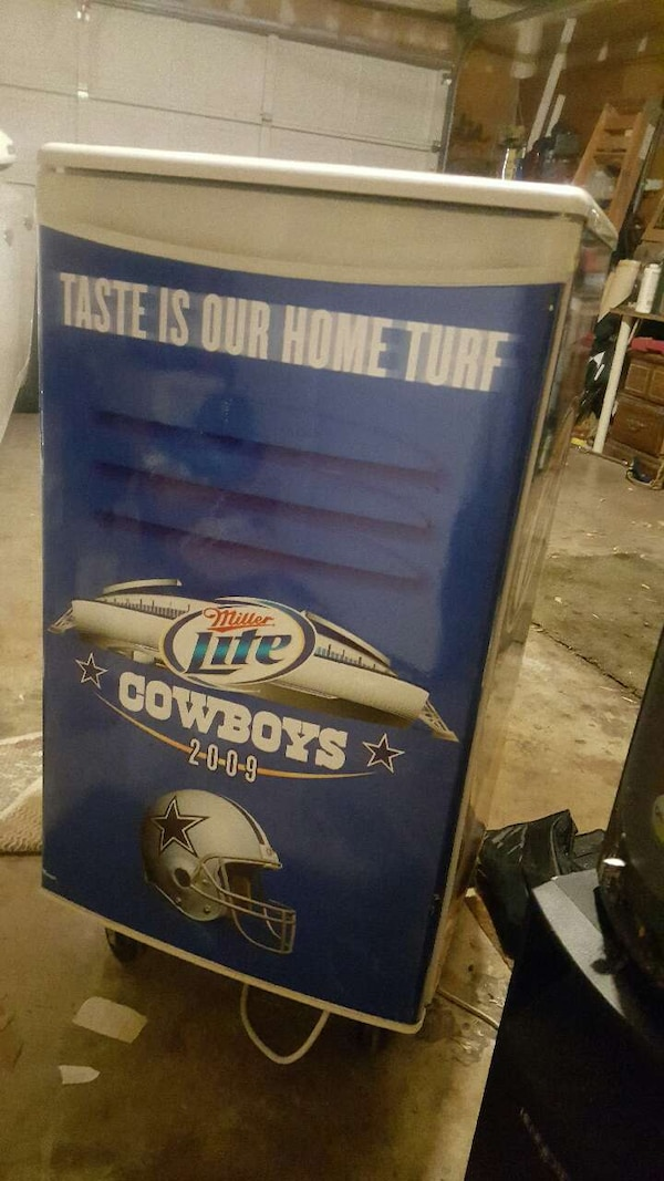 Used Dallas Cowboys Miller Lite Refrigerator For Sale In
