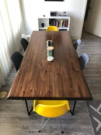 """Urban Home 77""""X36""""X30"""" Dining Table & 6 Eames Style Dining Chairs Los Angeles, 91403"""