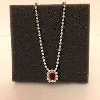 Faux Ruby & Diamond Necklace Arlington, 22204