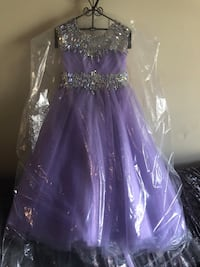 purple and silver sequined sweetheart neckline dress Tyler, 75703