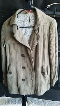 Olive green button-up jacket Payson, 84651