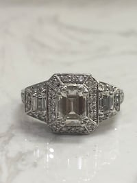 Platinum 2 carat emerald cut ring San Jose