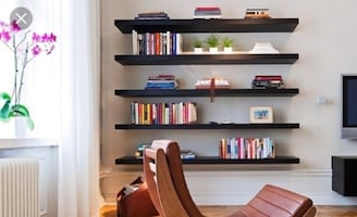 Wood floating shelf's 72 inches long