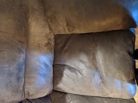 Gray microfiber couch