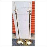 Gold tone metal lamps Hyattsville