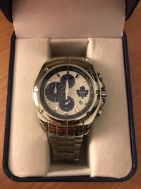 Men's silver Maple Leafs watch with case Caledon, L7C 2W1