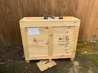 Wooden art shipping crate