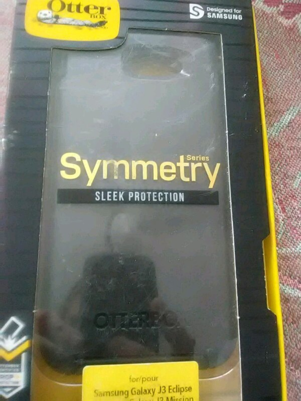 black OtterBox Symmetry for Samsung Galaxy J3 Eclipse with box