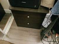 brown wooden 2-drawer nightstand Mississauga, L5B