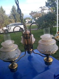 two brown-and-white table lamps Toms River, 08753