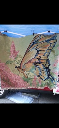 Beautiful butterfly throw