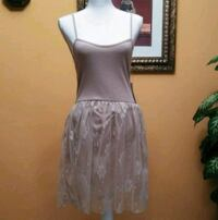 Filly Flair Spaghetti Strap Mesh Textured Dress Fort Myers, 33901