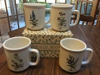 Glazed Ironstone Four 10oz Mugs from Italy Freehold, 07728
