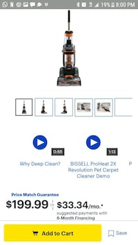 Orange brissell carpet cleaner