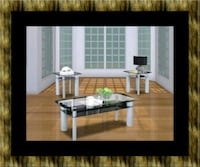 3pc glass coffee table Laurel