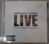 2 Motley Crue CDs – Greatest Hits and Live: Entertainment or Death  Toronto