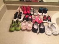 Newborn baby girl shoes 12 pcs Manassas, 20109
