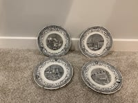 Antique black and white plates Oakton