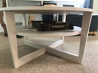 Round white wooden coffee table East Northport, 11731