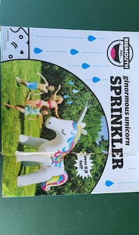 BigMouth Inflatable Magical Unicorn Summer Yard Sprinkler, Over 6 Feet