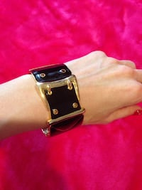 Belt Bracelet, Gold and Black