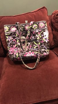 pink, white, and green floral tote bag Huntington Woods, 48070