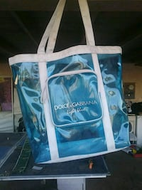 white and blue floral tote bag Bakersfield, 93304