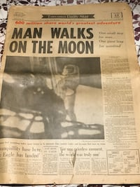 Man Walks On The Moon News Paper Toronto, M5T 1L6