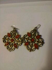 pair of gold-colored earrings Toronto, M6M 0A1