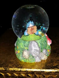 VINTAGE EEYORE GLASS MINI EDITION SNOW GLOBE BY DI