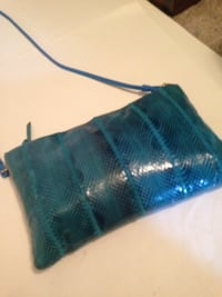 $15 OBO Turquoise Snakeskin Clemente purse - Never used - Etsy sells for $45 Katy