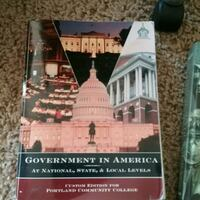 Government in America text book. Scappoose, 97056